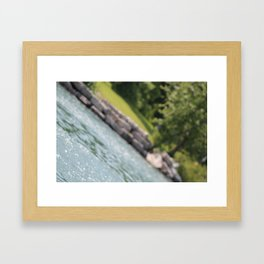 Even life has an angle Framed Art Print