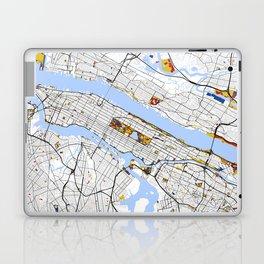 New York City Map United States Mondrian color Laptop & iPad Skin