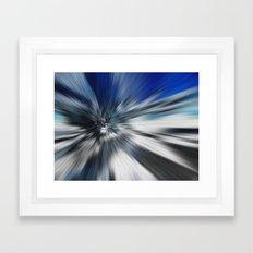 Abstract Black And Blue Starburst Framed Art Print