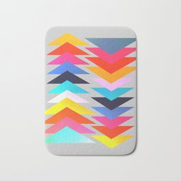 Multicolored triangles Bath Mat