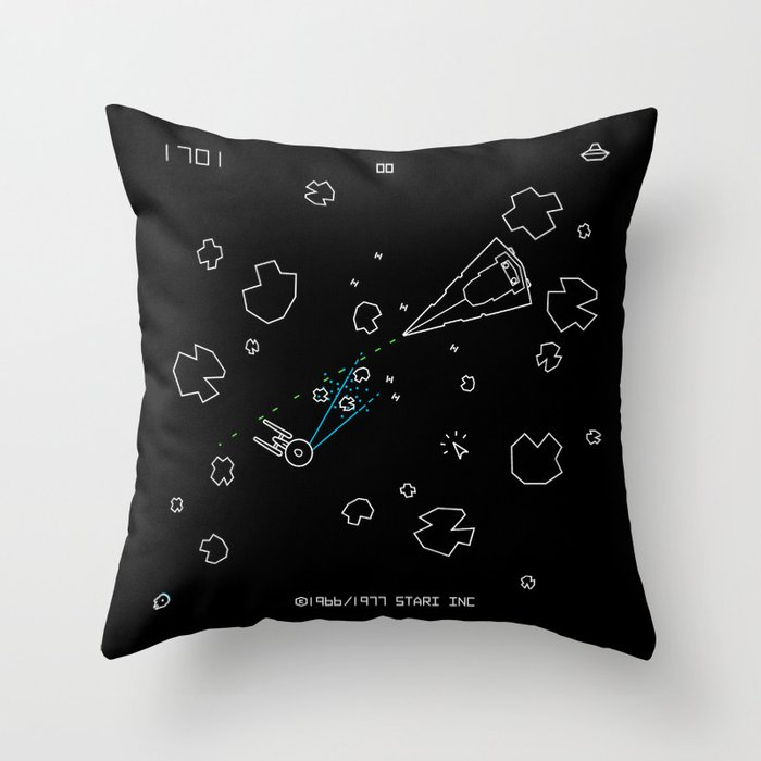Astaroids Throw Pillow