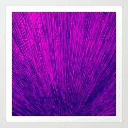 Electroshock Magenta Art Print