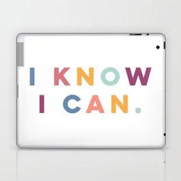 I Know I Can Postive Print Laptop & iPad Skin