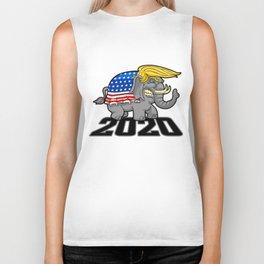 Re-Elect Trump for President. Keep America Great! Light Biker Tank