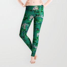 Tropical Bramble Green Leggings
