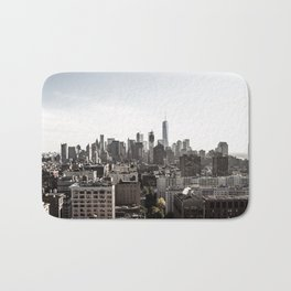 Landscape view of New York City Bath Mat