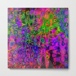 Psychedelic Explode Metal Print