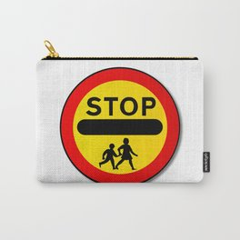 Stop Children Traffic Sign Carry-All Pouch
