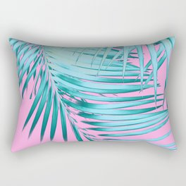 Palm Leaves Pink Blue Vibes #1 #tropical #decor #art #society6 Rectangular Pillow