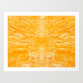 underwater fire, a coral dream of tree branches in orange Art Print