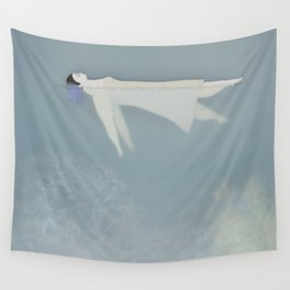 Afloat (Water Woman X) Wall Tapestry
