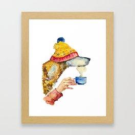 Watercolor dog  Framed Art Print