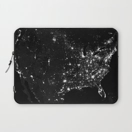 The Lights of the USA (Black and White) Laptop Sleeve