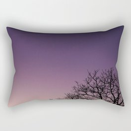 A bare tree in the sunset. Rectangular Pillow