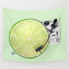 LIME DJ Wall Tapestry