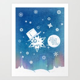 Jolly Good Snow Art Print