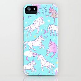 Unicorns In The Sky iPhone Case
