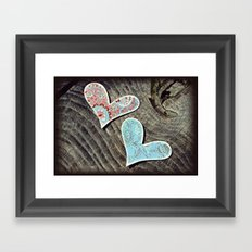 Two Hearts Beat as One Framed Art Print