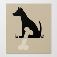Gave a Dog a Bone (Tan) Canvas Print