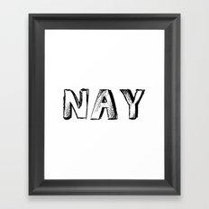 NAY Framed Art Print