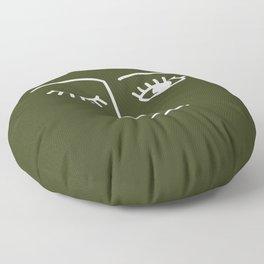 Wink (Olive Green) Floor Pillow