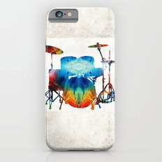 Drum Set Art - Color Fusion Drums - By Sharon Cummings Slim Case iPhone 6