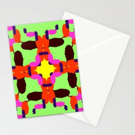 Key Lime Sun Bugs Squared Stationery Cards