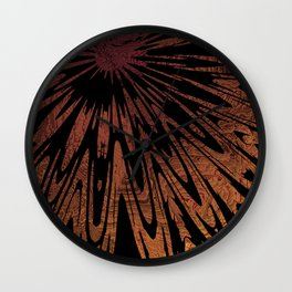 Native Tapestry in Burnt Umber Wall Clock