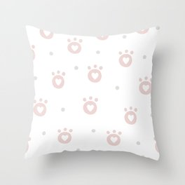 Baby Puppy Paws - Baby Pattern Throw Pillow