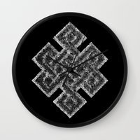 buddhism Wall Clocks featuring Many Paths of One Humanity - 1 of 7 - Buddhism  by ART.KF