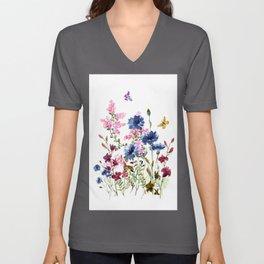 Wildflowers IV Unisex V-Ausschnitt