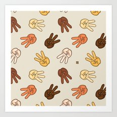 Hiii Power hand sign (remix)  Art Print