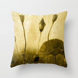 Poppy Art Image Throw Pillow