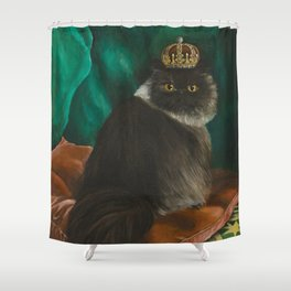 DONETE, A FANCY CHOCOLATE PERSIAN CAT Shower Curtain
