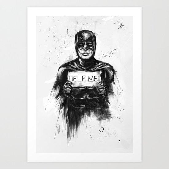 help me! Art Print