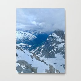 Mount Titlis Metal Print