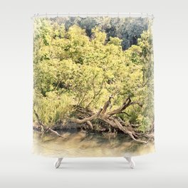 Memories of the river Shower Curtain