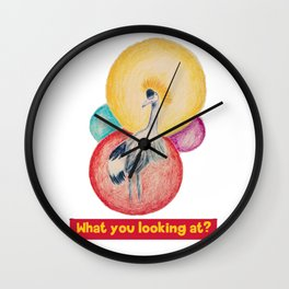 What you looking at? Wall Clock