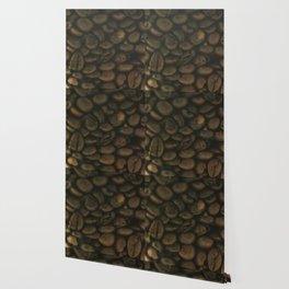 Coffee pattern, fine art photo, Coffeehouse, shops, bar & restaurants, still life, interior design Wallpaper