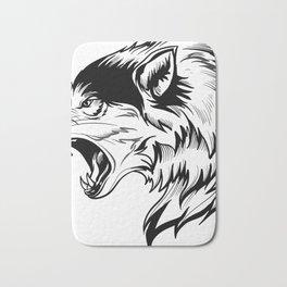 wild wolf tatto Bath Mat