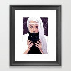 She had Stars in her Eyes Framed Art Print