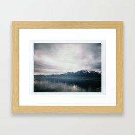Brume sur Montreux Framed Art Print