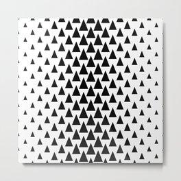 Scandinavian Triangle Tree Design Metal Print