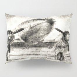 Vintage Aviation Pillow Sham