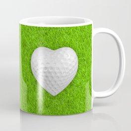 Golf ball heart / 3D render of heart shaped golf ball Coffee Mug