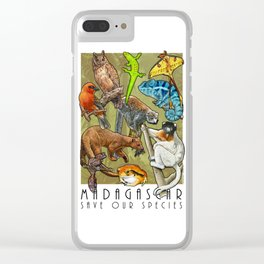Save Our Species: Vanishing Animals of the Madagascar Clear iPhone Case