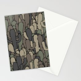 Camouflage cactuses Stationery Cards