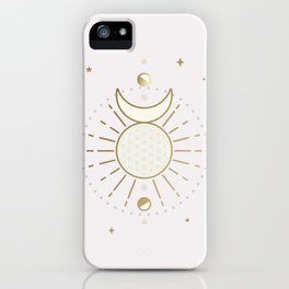 Magical Sun and Moon - tarot illustration iPhone Case