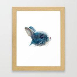 cute bunny illustration Framed Art Print