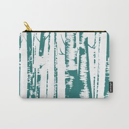 Old Growth Birch Forest in Blue Carry-All Pouch